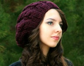 Knitting Pattern - Adult Slouchy Cables Hat