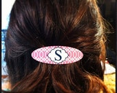 Monogrammed Hair Barrette - Design Your Own