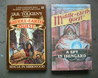 RESCUE IN MIRKWOOD and A Spy in Isengard - Middle Earth Quest, Rare Paperback rpg Books, Tolkien LotR Book