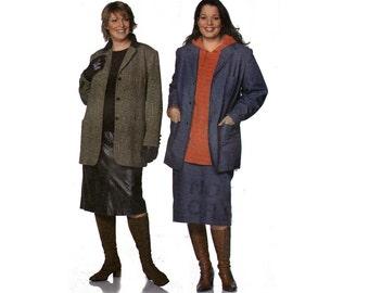 PLUS Size Skirt and Coat Pattern Burda 8439 Sewing Pattern Sizes 18 20 22 24 26 28 30 32 UNCUT Factory Folds