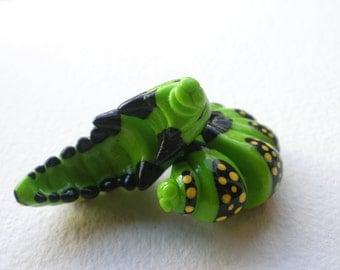 Swallowtail Caterpillar Fake Gauge Earring - Bug- Insect- Grub - Nature