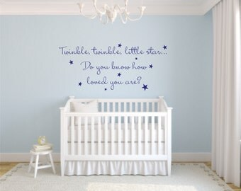 Twinkle Twinkle Wall Decals  Twinkle Twinkle Little Star Wall Decal    Childu0027s Room Wall Decal Part 33