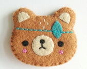 Spirit Bear Brooch-Handmade bear brooch-NEW 2014