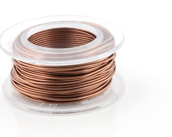 WIRE - 18g (AWG) Antique Copper - Enameled Copper Wire - 7 yard spool