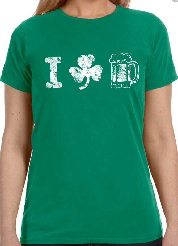 Funny Beer T Shirts For Women St Patricks Day Shirt ...