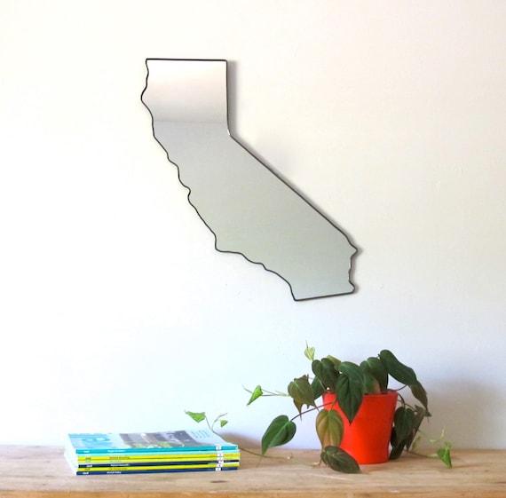 California Mirror / Wall Mirror State Outline Silhouette San Francisco CA Wall Art Shape Modern Decor