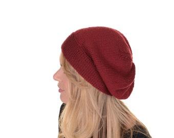 Daisy Beret Knitting Pattern PDF.  Slouchy Beret. Slouchy Hat. KNITTING PATTERN