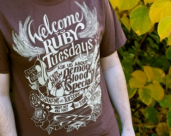 Supernatural Shirt // Sam Winchester Ruby Tuesday T-Shirt // Yesterday Was Tuesday But Today Is Tuesday // Available in Plus Sizes