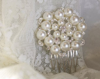 Bridal Hair Comb Wedding Hair Comb- Wedding Hair Accessories-Pearl Bridal Comb-Crystal Wedding Comb-Bridal Headpieces-Bridal Hair Gift