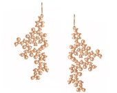 Oxytocin Molecule Earrings - 18k Rose or Yellow Gold Plated