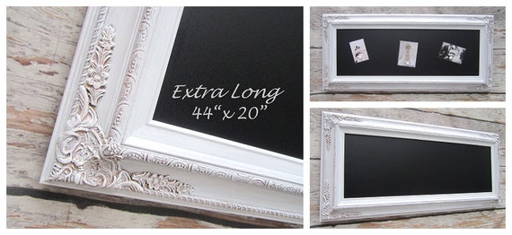 "FANCY CHALKBOARDS For Sale Wedding Framed Chalkboard Decor Decorations - 44""x 20"" Long Narrow Signage Unique Newlywed Gift New Home Gift"