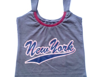 OOK Upcycled New York Grey with Bordeaux Neckline Cami