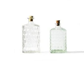 Glass Bottles | Decanter Set | Vintage | Set of Two