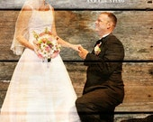 REAL WOOD print Custom Anniversary Gift Wedding Decoration or Wedding Anniversary Gift 20x24