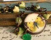 Butterfly Bracelet,Butterfly Jewelry,Ephemera Jewelry