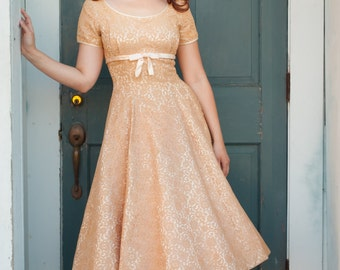 Vintage 1950s Dress - Lace 50s Dress - Sugar Rush Dress