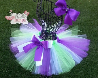 BUZZ LIGHTYEAR inspired- Green, White, and Purple baby/child Tutu Set:  Newborn-5T