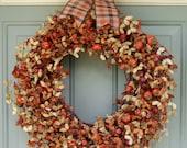 Fall Wreath - Fall/Autumn Wreath - Fall Door Wreath