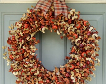Fall Wreath - Fall/Autumn Wreath - Fall Door Wreath
