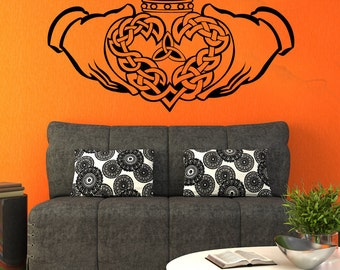 Vinyl Wall Decal Sticker Celtic Claddagh 1367m