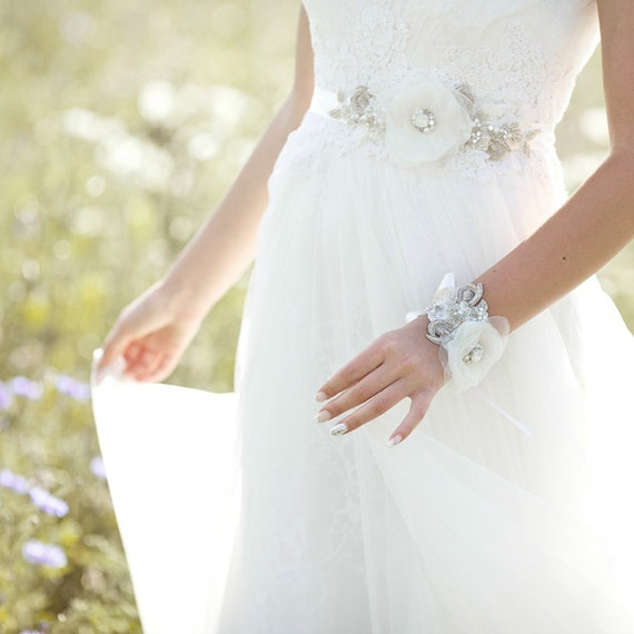 Wedding Dress Bridal Belt Sash Crystal Bridal Sash By