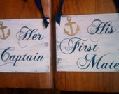 Nautical Wedding Signs RESERVED LISTING