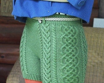 Bombshell Shorts Knitting Pattern by Katie Canavan