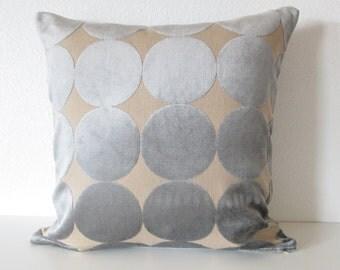 Dwell Studio Plush Dotscape Dove decorative pillow cover