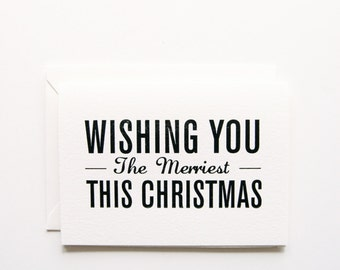The Merriest - Letterpress Printed Holiday Cards