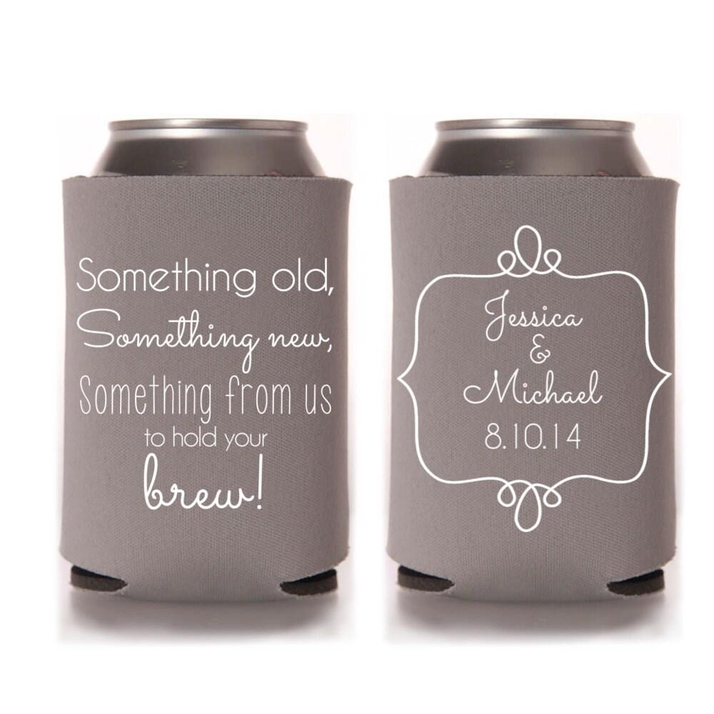 Wedding Gift Stubby Holders : Rustic Wedding Favors Wedding Can Coolers by yourethatgirldesigns