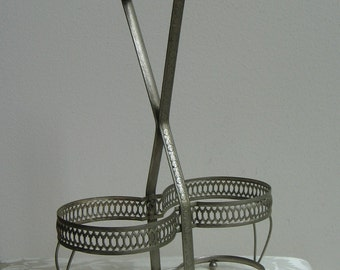 Vintage Wine Bottle Champagne Caddy Silver Plated England, Art Deco Footed Pierced Metal, Wedding Table Decor, Classic Elegance