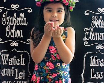 Personalized Faux Chalkboard Photo Backdrop Design