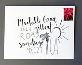 Hand Lettered Custom Address Calligraphy for Any Occasion; Wedding, Bridal Shower, Baby Shower, Birthday, and more! Black and white