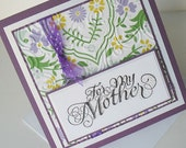 Mothers Day Greeting Cards:  Handmade Blank Note Card - Garden Society