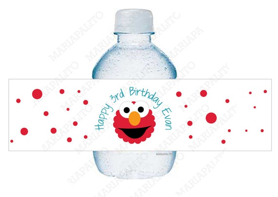 Elmo Birthday Party Ideas to create the perfect Elmo Birthday Party by MariaPalito ELMO Water Bottle Labels, 5 Personalized Elmo Birthday Party Labels A1037