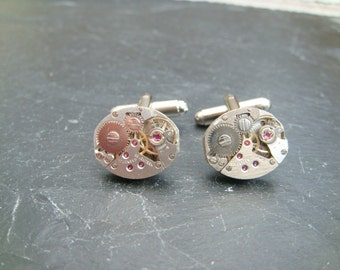 watch movement cuff links ideal gift for the steampunk fan