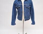 vintage jean jacket vintage LEVIS denim jacket indigo size 40 - 42