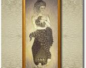 Golden Nymph - Fine Art Print on heavy Cotton Canvas - unframed