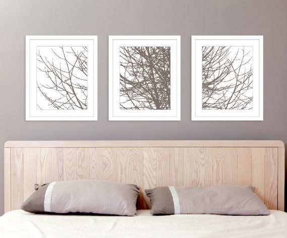 Winter Tree Branches Digital Print Set 11x14 Nature