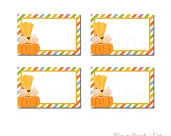 Little Pumpkin Baby Shower Label Tents   Pumpkin Baby Shower Labels   PRINTABLE Pumpkin Baby Shower Buffet Labels #205