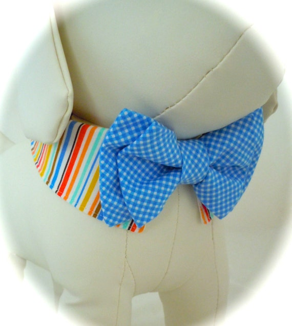 Bow Tie And Shirt Collar For Dog Or Cat By Furrytalecouture