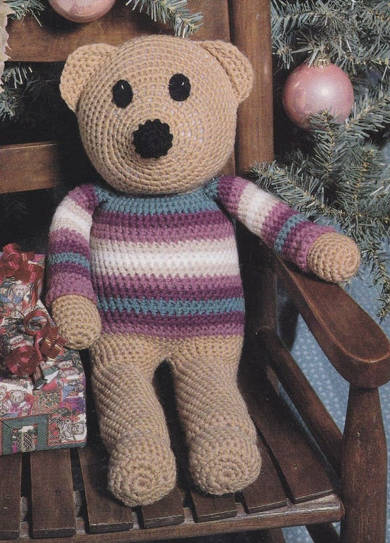 Free Crochet Patterns For Teddy Bear Sweaters : Sweater Bear Crochet Pattern Teddy Bear by PaperButtercup ...