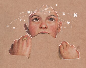 The Star Watcher - Print