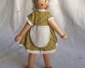 Vintage wood doll. Poland doll. Peg doll