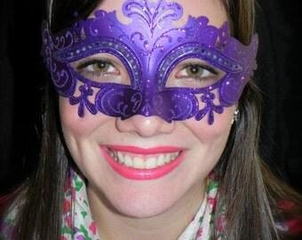 Purple Capri Masquerade Mask