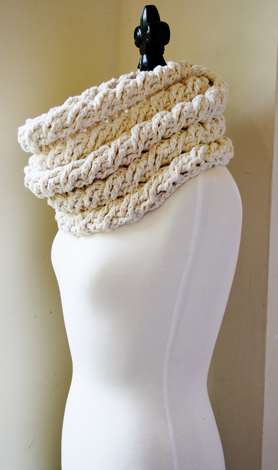 Crochet Scarf Patterns With Cables : Crochet Scarf Pattern Womens Cabled Scarf Pattern Crochet