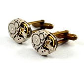 Watch Cufflinks, Steampunk Cufflinks, Watch Movement Cufflinks, Soldered