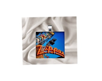 Pendant Necklace Carnival Ride Zipper