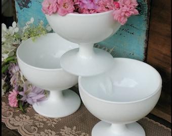 Milk Glass Wedding Centerpiece Collection/ Milk Glass Planter/ Let the Celebration Begin
