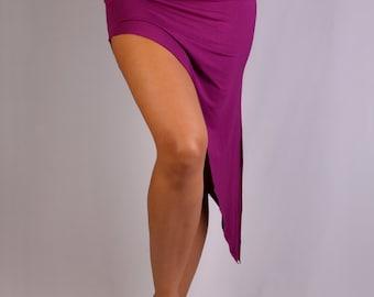 Diagonal Overskirt in Rayon Lycra - Dance wear, Yoga wear, Active wear, Casual wear